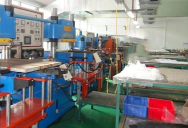 Compression molding line